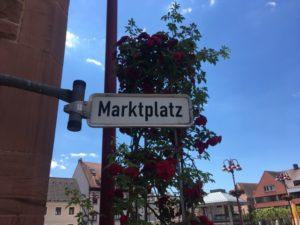 Marktplatz in Lahr/Schwarzwald