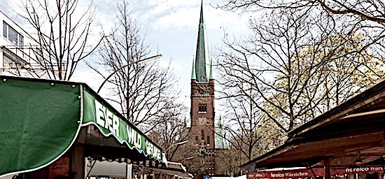 Wochen- und Streetfood-Markt Turmweg in Eimsbüttel